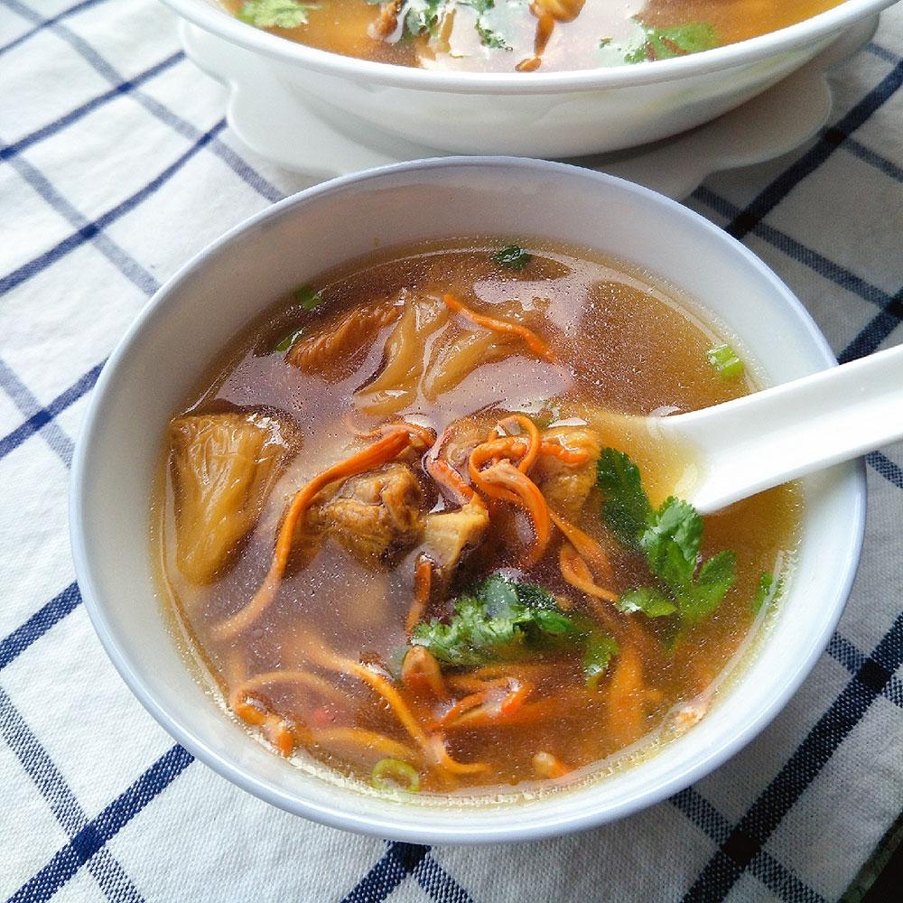 虫草花猴菇汤