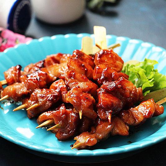 叉烧鸡肉串