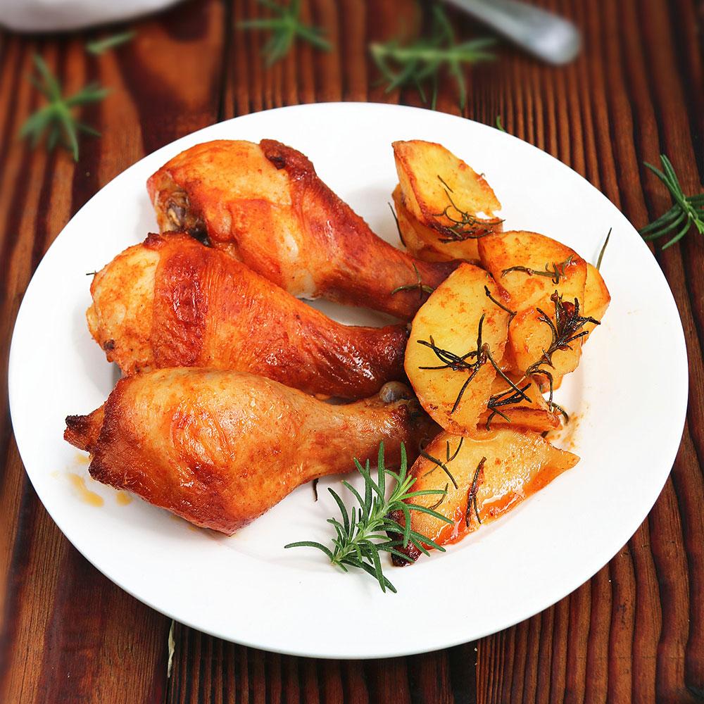 迷迭香土豆烤鸡腿