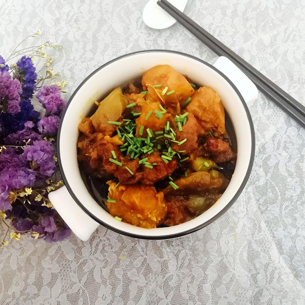 莴笋芋头焖鸡
