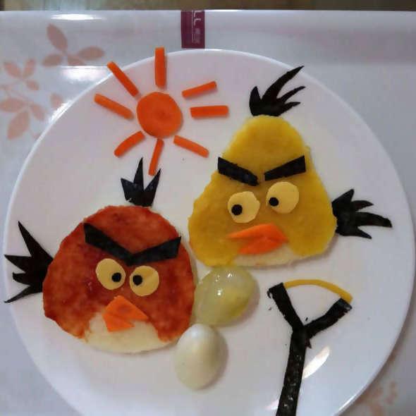 创意爱心早餐