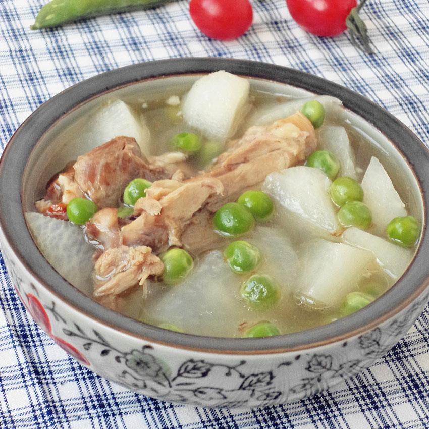 豌豆鸭骨萝卜汤
