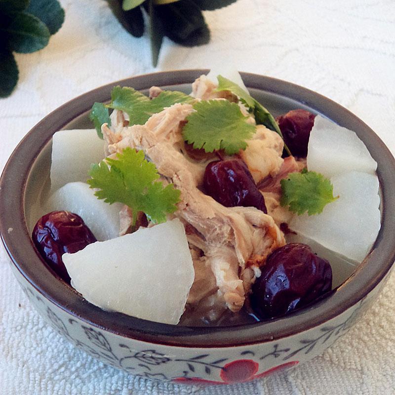 白萝卜红枣鸭骨汤