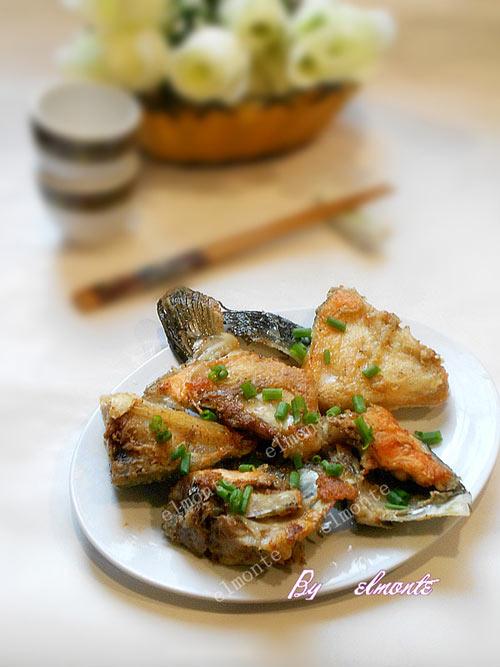 香煎三文鱼头