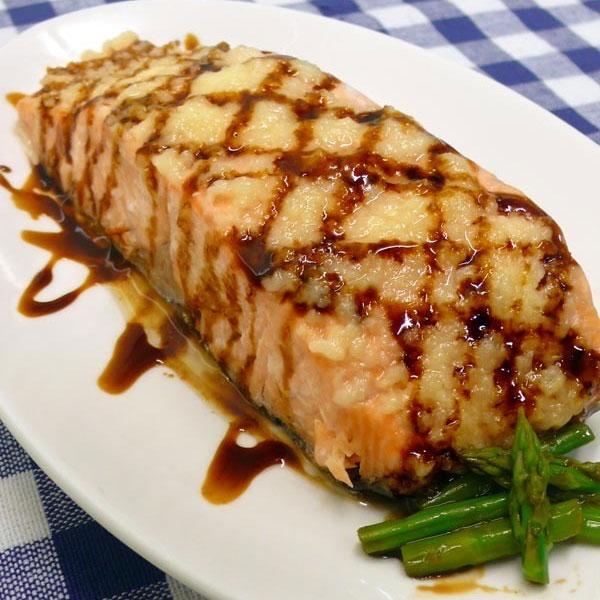 蒜蓉油膏鲑鱼