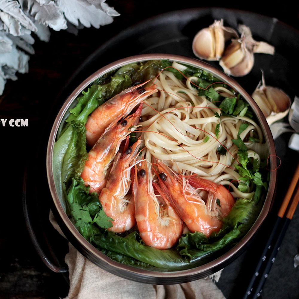 鲜虾清汤面