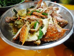 蚝油姜葱炒蟹