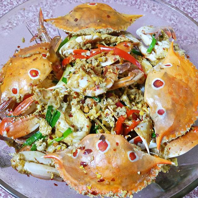 油焖三眼蟹