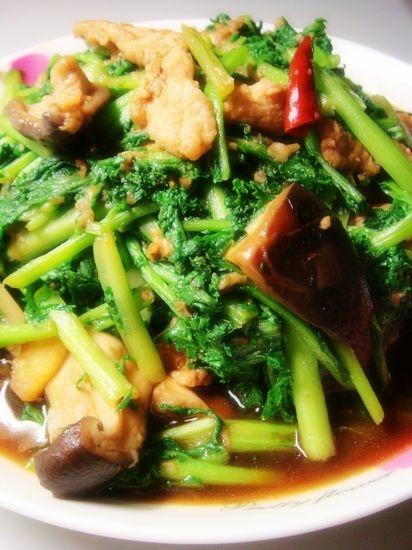 香菇苔菜炒肉