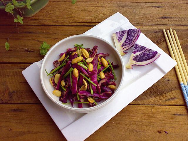 陈醋凉拌紫包菜