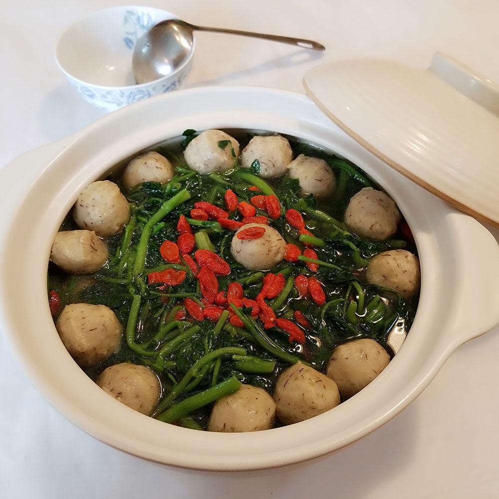 西洋菜鲮鱼球汤