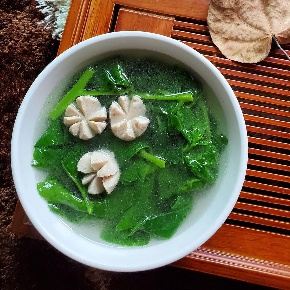 木耳菜丸子汤