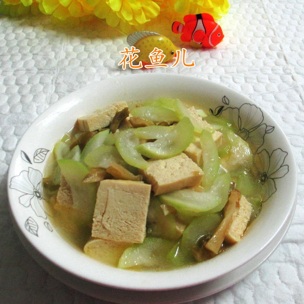 榨菜丝夜开花煮冻豆腐