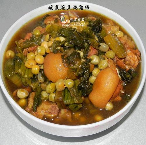酸菜豌豆炖猪蹄
