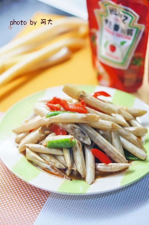 茄汁炒藕带