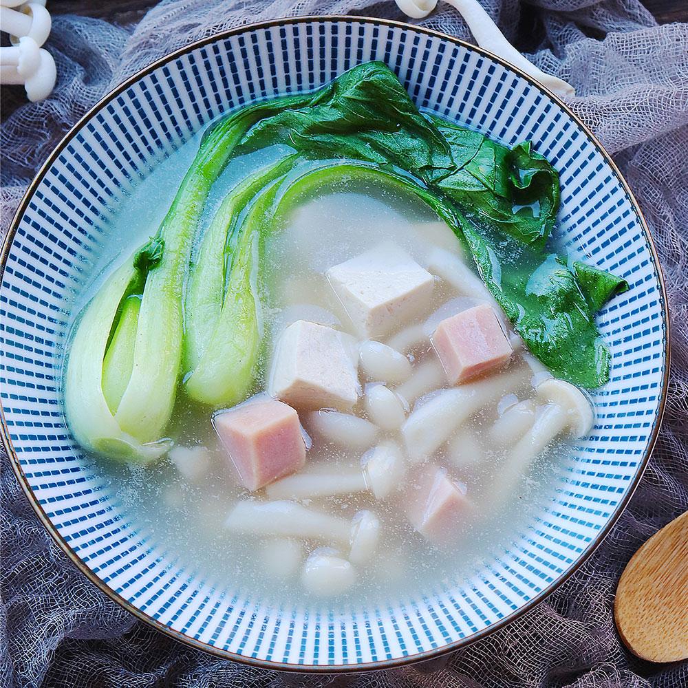 清甜低脂的豆腐菌汤