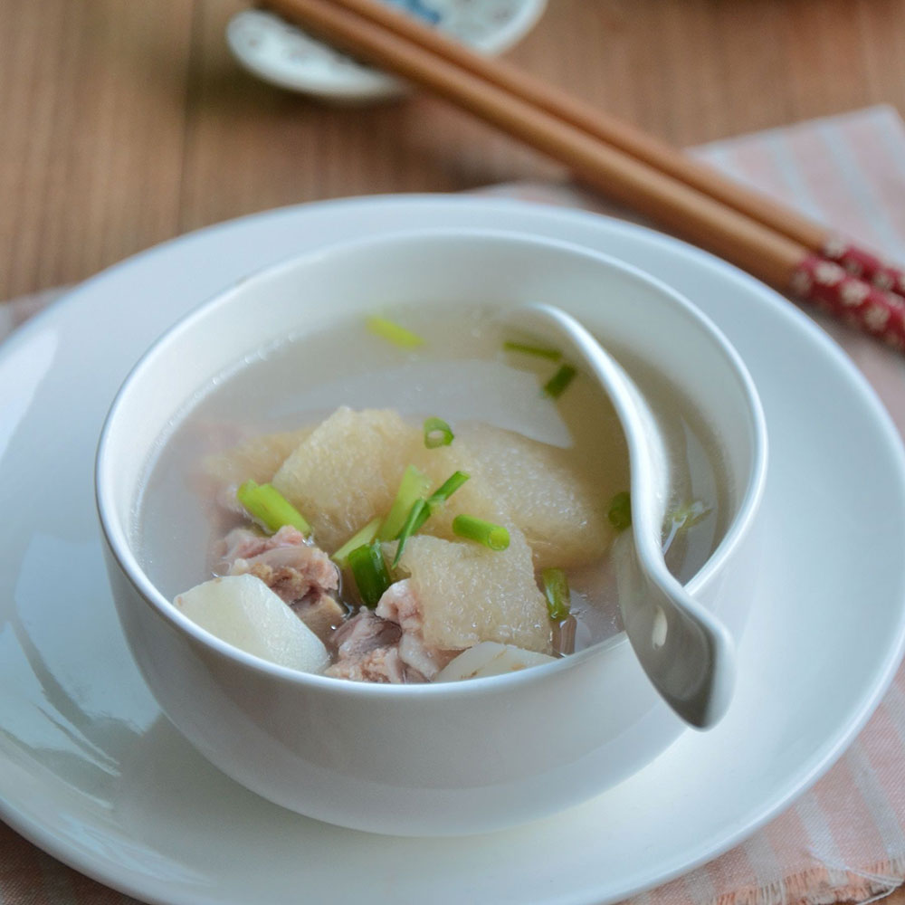菱角竹荪排骨汤